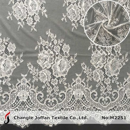 Fancy Swiss Voile Lace Fabric Tulle Chantilly Lace (M2251)