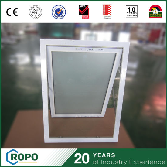 Hurricane Impact PVC Frosted Glass Bathroom Window China Manufacturer