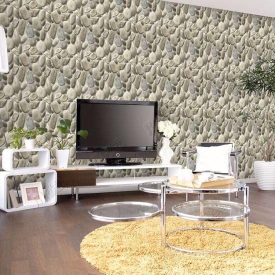 china wholesale cheap price natural stone designs pvc washable 3d