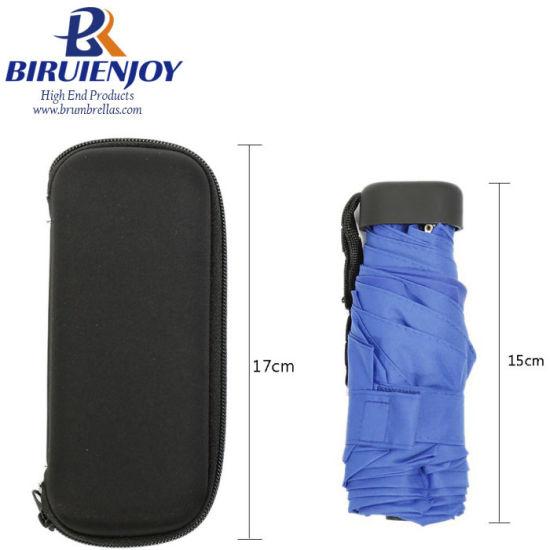 5 Folding Rain Women Mini Umbrella with EVA Case