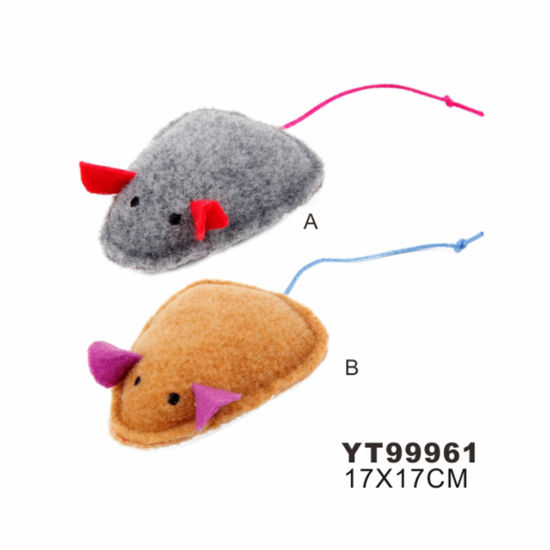 Plush Mouse Shape of Cat Toy with Catnip Inside (YT99961)