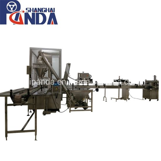 High Speed Automatic Protein Milk Powder Auger Filling Machine Cans Packing Machinery Production Line