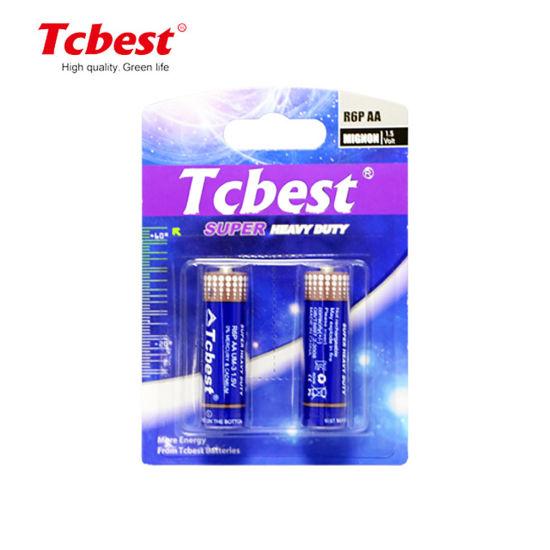 Tcbest Battery Super Heavy Duty Carbon Zinc Battery R6 R6p AA 1.5V Um3