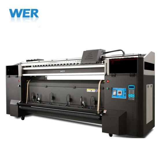 2.0m Digital Inkjet Textile Printing Machine Sublimation Printer Fabric Printer Wer-H200t
