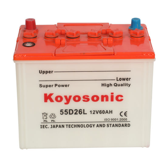 55D26L Car Battery Dry Charged 12V 60ah Automobile Battery Car Starting Battery