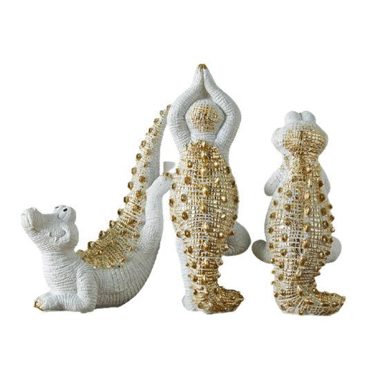 Cute Resin Statue Crocodile Animal Figurines For Home Decor China Resin Statue And Resin Decoration Price Made In China Com