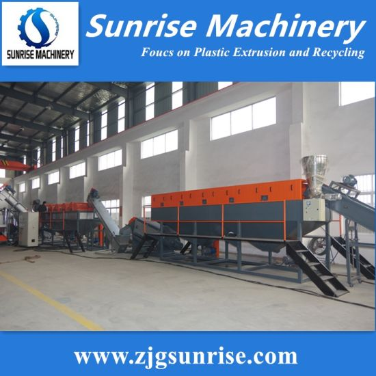 1000kg/H LDPE Film Washing Granulating Recycling Production Line