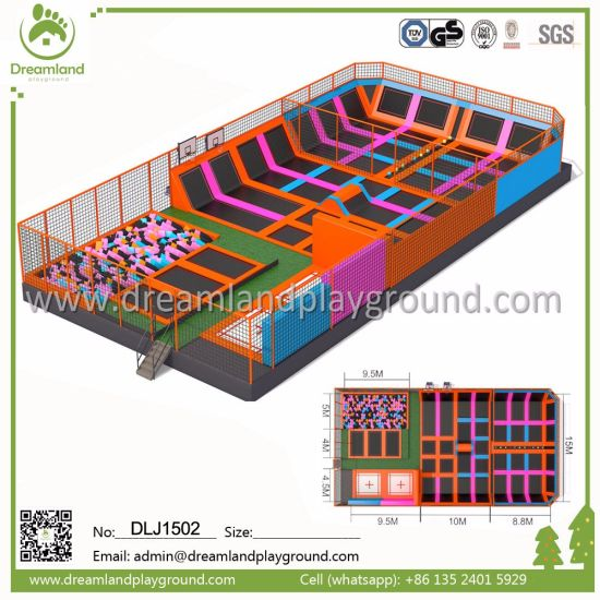 Gymnastic Trampoline Park for Adults, Trampoline Safety Pad for Kids pictures & photos