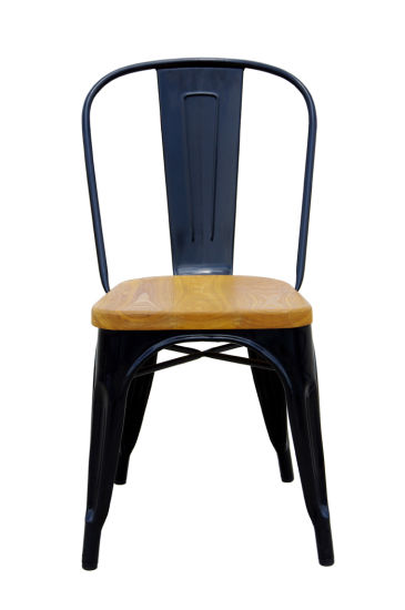 Tolix Marais Metal Dining Restaurant Wooden Seat Chair