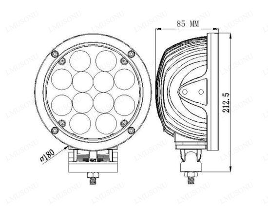 China Auto Lighting 12v 7 0 60w Slim Led Work Light 12 Leds For Atv