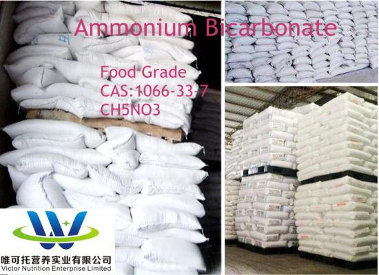 Food Grade Baking Additives Swelling Agent CAS: 1066-33-7 Ammonium Bicarbonate