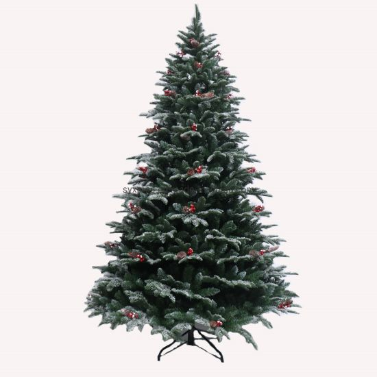 PE&PVC Mixed Christmas Tree with Decoration Home Decoration