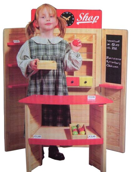 Children Roll Play Wooden Super Market pictures & photos