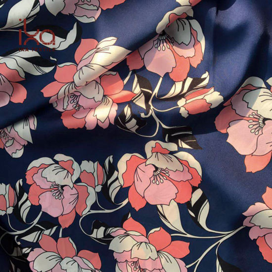 Wholesale Polyester Digital Printed Dull Satin Fabric