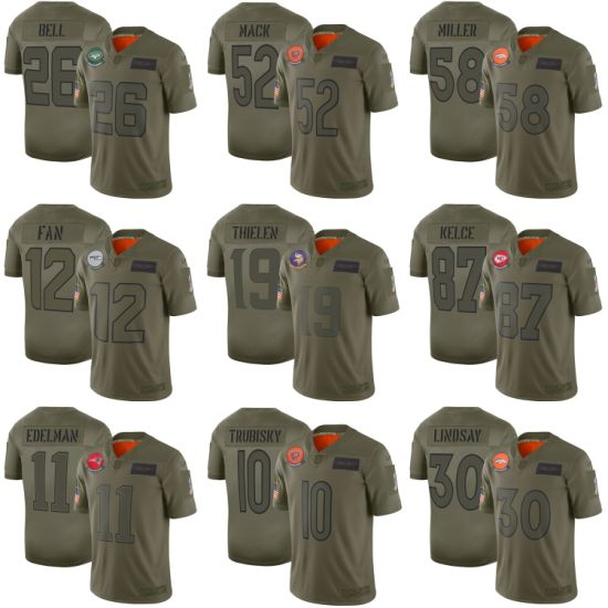 2019 Salute to Service Mack Miller Lindsay Bell Football Jerseys