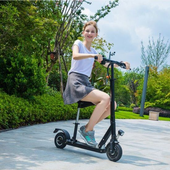 2019 Hot Sale Ce Aluminium Alloy Fold 10inch Electric Dual Motor Scooter Handheld Standing up Scooter