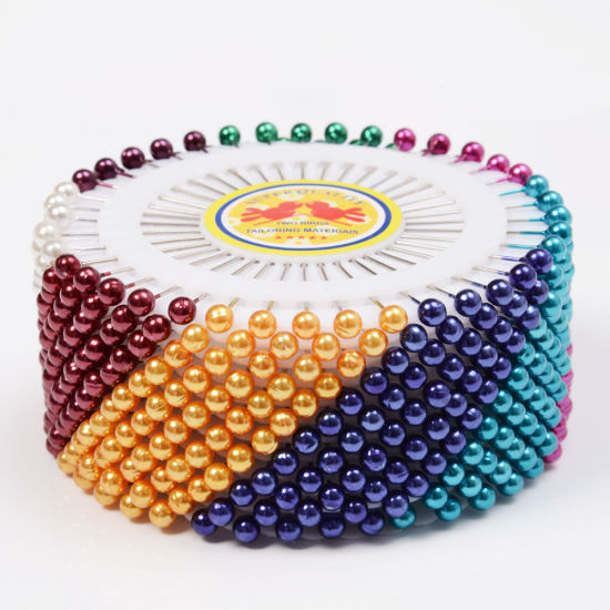 40PCS Dressmaking Sewing Pin Round Head Color Pearl Corsage pictures & photos