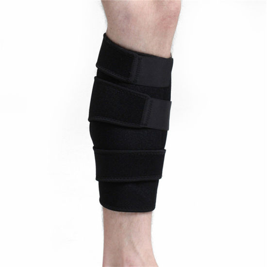 Black Breathable Neoprene Waterproof Compression Sleeve Leg Calf Brace