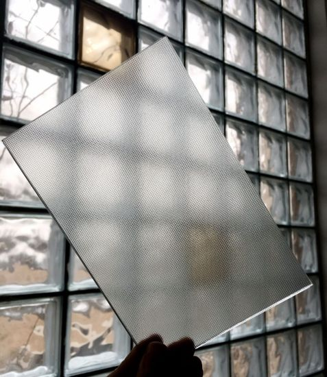 2.5mm 3.2mm 4mm Low Iron Mistlite Satinlite Solar Glass Super White Patterned Glass