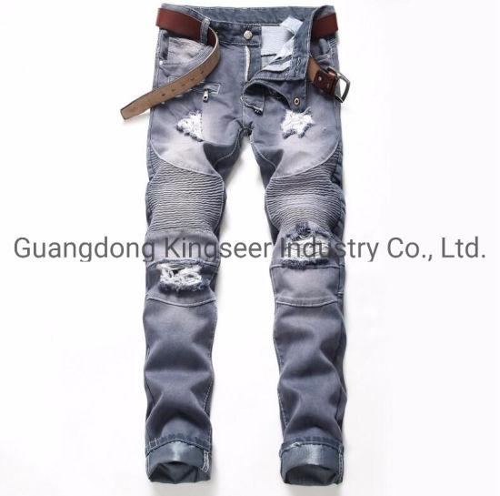 2019 Fashion Boys Trousers Skinny Pants Ripped Denim Jeans Men Jeans Ks-D014