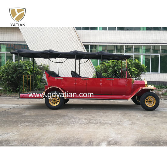 Unique Design 8 Seater Classic Vintage Electric Sightseeing Car with Luggage Rack for Sale