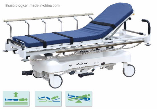 Rh-D208 Hospital Luxurious Hydraulic Rise and Fall Stretcher Cart