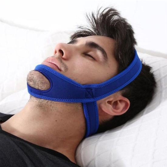 Hot Selling Black Triangle Soft Neoprene Anti Snore Chin Strap for Drop Shipping