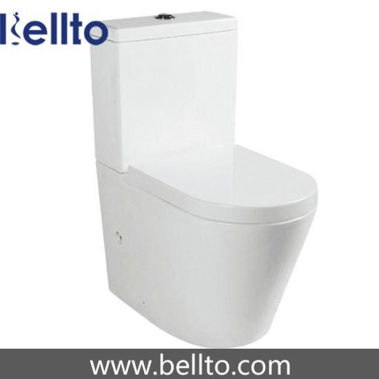 Rimless Water Closet Toilet with Watermark (B-021)