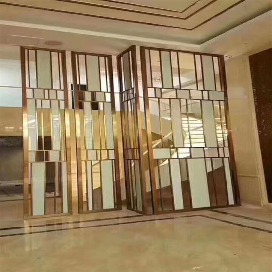 Home Decoration Stainless Steel Interior Folding Screen Room Divider