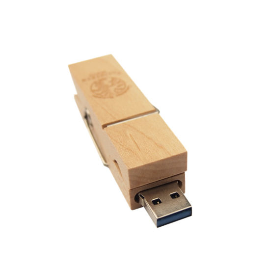 Bulk Cheap 1GB Customized Logo Printed Wooden USB Flash Drive pictures & photos