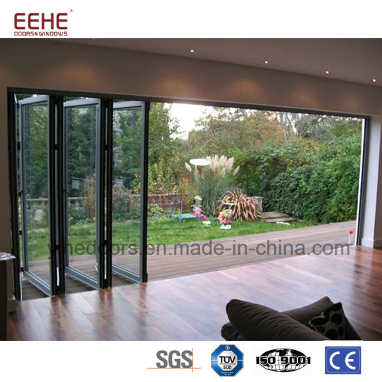 China Latest Design Balcony Aluminum Glass Folding Door China