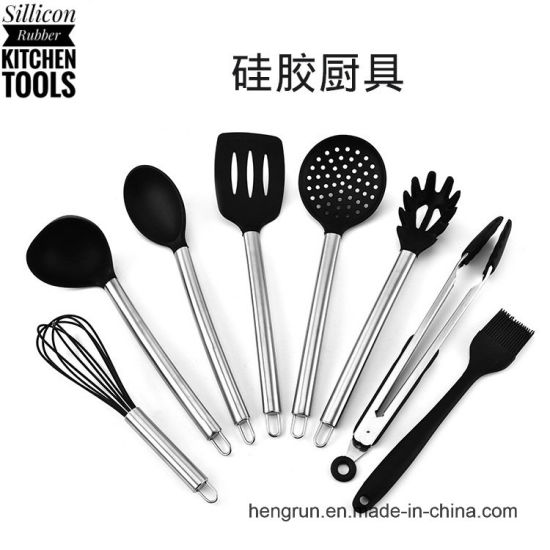 kitchen utensil set 8 best kitchen utensils nonstick cooking spatulas silicone stainless steel kit for pots pans serving tongs spoon - Best Kitchen Utensils