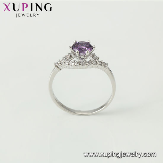 12616 Xuping Latest Cool Design with CZ Big Stone Custom Aqeeq Jewelry Rings pictures & photos