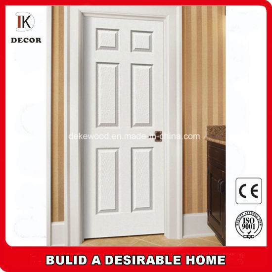 6 Panel Solid Core White Primer Single Prehung Interior Door