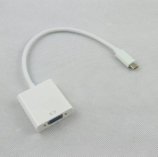 """USB-C Type C USB 3.1 Male to VGA Female Adapter Cable Lead for Macbook 12/"""""""