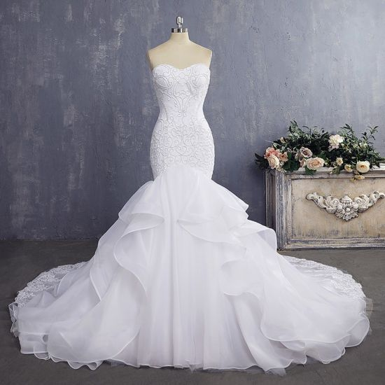 Amelie Rocky 2018 Pearls Lace Wedding Gown Mermaid