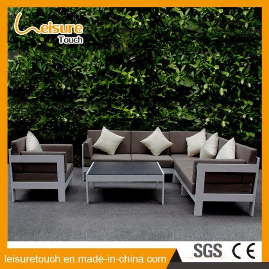 Minimalist Stainless Steel Aluminum Modern Metal Corner Sofa Set Garden Outdoor Leisure Combination Furniture Pictures