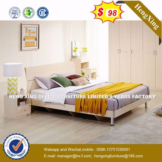 Wholesale Cheap Chinese Wood Double Bed Design Bedroom Furniture  (HX 8NR0787)