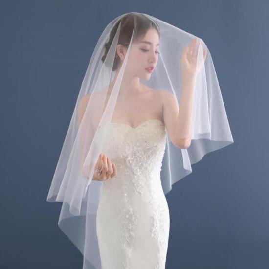 Custom Make Cheap High Quality 1.5 Meters Tulle Wedding Bridal Veil