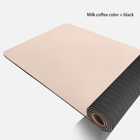 Wholesale TPE Private Label Two Layer Natural Anti-Slip Eco-Friendly Yoga Mat