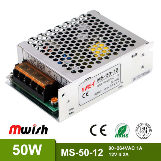Factory Price 50W Mini Size SMPS 12V 4.2A Regulated Power Supply with RoHS Ce Certificate pictures & photos