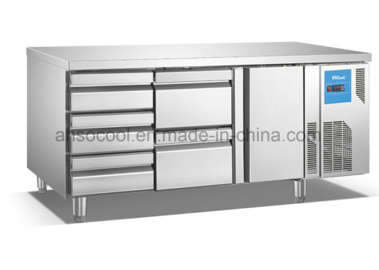 Stainless Steel 5 Drawer Undercounter Refrigerator For Hotels And Restaurants
