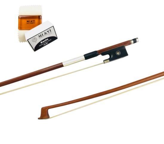 Classic Pernambuco Violin Bow 4/4 (Full Size) Ebony Frog - Well Balanced - Light Weight - Real Mongolian Horse Hair