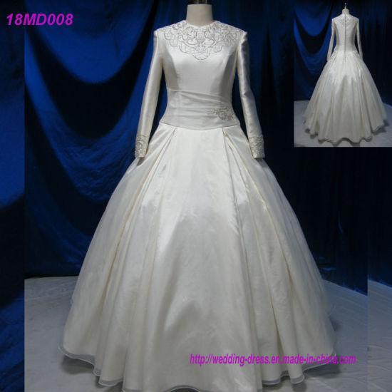 China New Arabic Designs Long Sleeve Dubai Muslim Wedding Gowns ... f9071b4e4da5