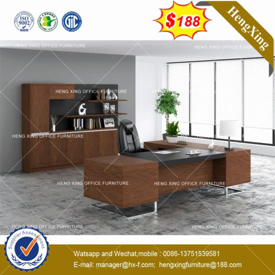 Stock Boss Desk Manager Table With Cabinets Maple Office Furniture  (HX 8NE025)