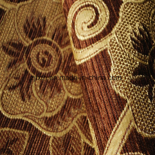 Hot Sale Chenille Woven Fabric Brown with Coffee Color pictures & photos