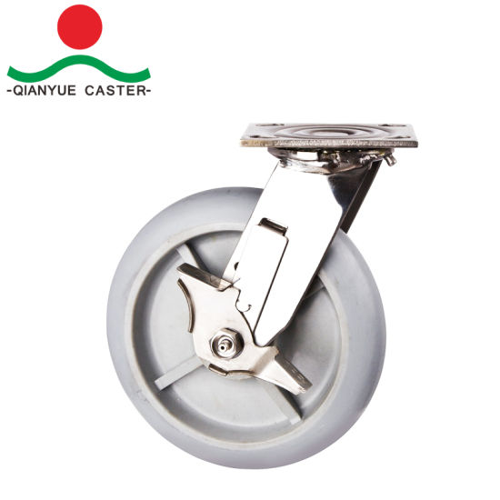 Heavy Duty Swivel Stainless Steel Rigid Caster pictures & photos