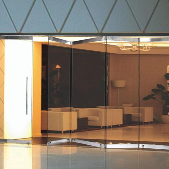 China Commercial Frameless Stainless Steel Glass Push-Pull Folding ...