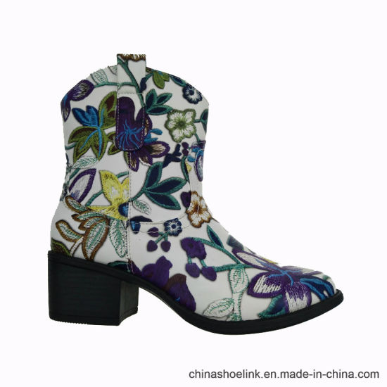 9ed2cfa0dd0c3a China 2018 Hot Sell Colorful Ankle Boot for Ladies - China Fashion ...