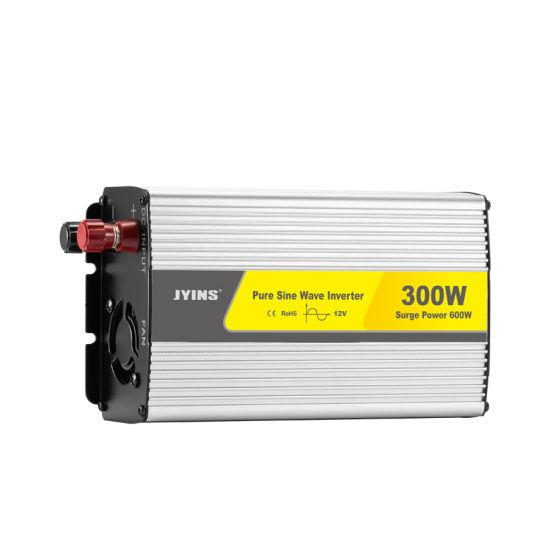 24V DC to 120V AC 300W Car Power Inverter Pure Sine Wave Inverter Home Solar